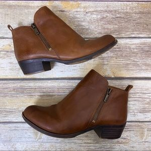 LUCKY BRAND Brown Leather Chelsea Ankle Boots 7.5